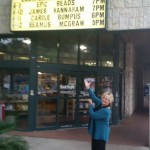 On the Marquee in my former hometown of Austin - thanks, Book People!